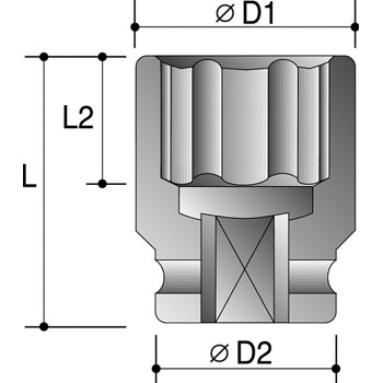 High Torque Socket Dimension Diagram