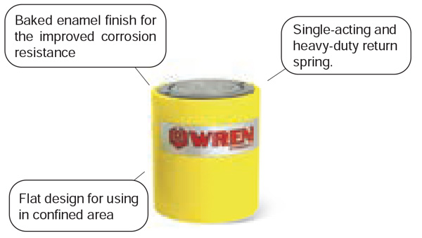 RCS series Single-Acting Low Weight Cylinder